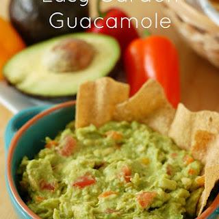 Easy Garden Guacamole