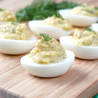 Deviled Eggs With Dill Pickle In It Recipes