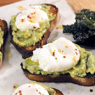 Poached Eggs with Salsa Verde on Avocado Toast