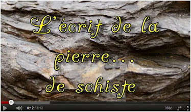 "Photo: Poésie:Texte & Clip...""L'écrit de la pierre... de schiste"". (mai 2011)  http://www.youtube.com/watch?v=Ve5sMtgAHgg"