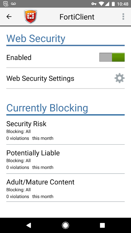 Forticlient android apps on google play forticlient screenshot ccuart Image collections