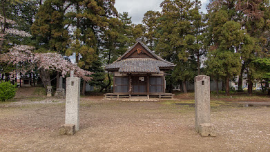 "Photo: The main shrine building of Nagara Shrine, Ōizumi, Ōra District, Gunma Prefecture. It was here I encountered an old woman who didn't look a day over 60, but was actually 84, who talked to me - in good English - which she said she had learned straight after the war when she had worked for a couple of years (maybe up to 5, she said) on a nearby American base. She said Sanyo has been a presence here from before the war, and used to manufacture planes. While talking, two little boys - brothers - would run up and yell ""Hello!"" and shake my hand. Read more about Oizumi: http://japanvisitor.blogspot.jp/2015/04/oizumibrazil-in-japan.html"