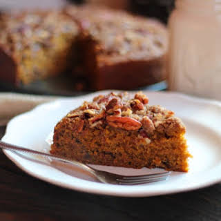 Pumpkin Coffee Cake with Pecan Crumble.