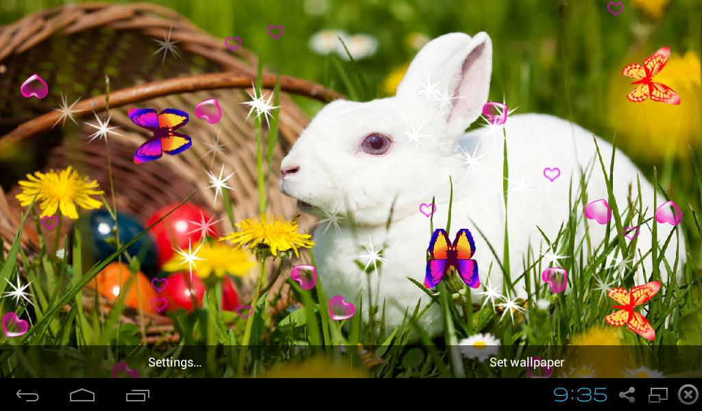3d Parallax Weather Live Wallpaper For Android Os Cute Rabbit Live Wallpapers Android Apps On Google Play