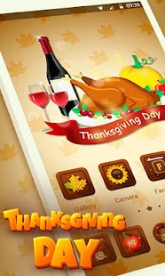 Thanks Giving Day Go Launcher Theme - náhled