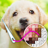 Color by Letter - Sewing game  Cross stitch Icon