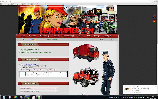 Extension pour monpompier.com