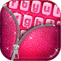 Pink Glitter Keyboard Art icon