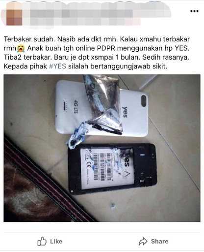 M'sian Student's YES Phone Catches Fire During Online Class; Perak MB Responds