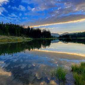 Morning at Highlands by Paul Judy - Landscapes Waterscapes ( california, ebbetts pass, lake, sunrise, highlands )
