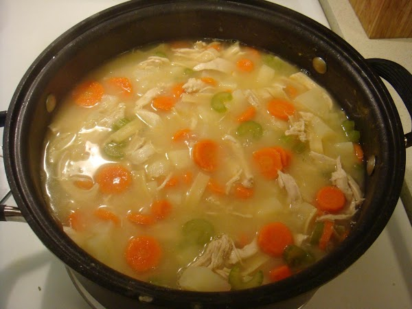 Continue to simmer for about 30 minutes. You will get evaporation so continue to...