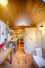 Photo: The ladder to the bed can be stowed in the loft when not in use.