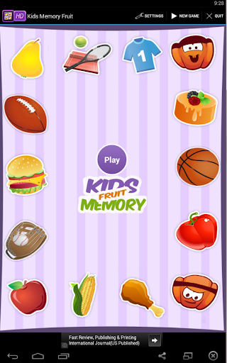 Kids Memory Fruit