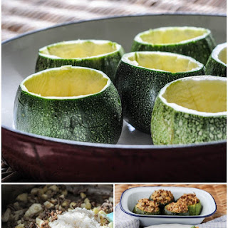Stuffed Globe Courgettes with Lamb, Cinnamon and Rice