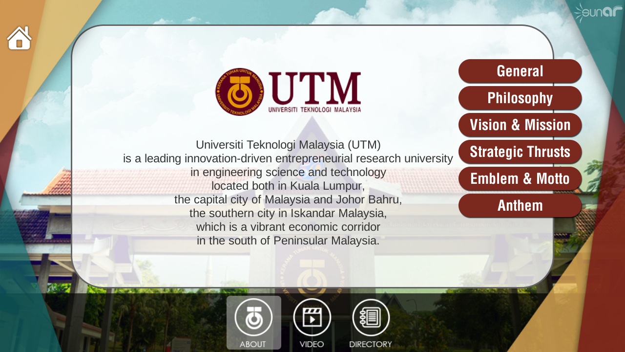 UTM Augmented Reality- screenshot