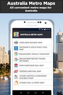 Australia Rail & Metro Maps - náhled