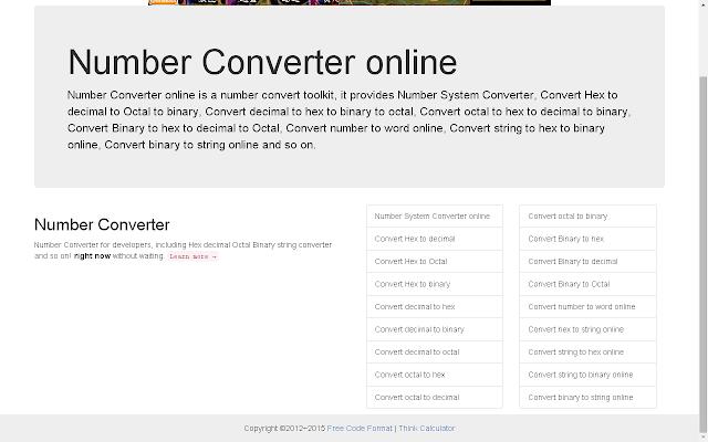 Number Converter online