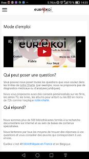 Eurêkoi il suffit de demander Capture d'écran