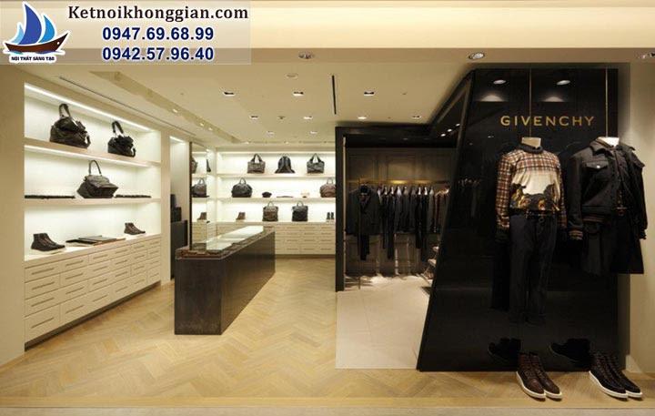 thiết kế shop thời trang nam tại times city