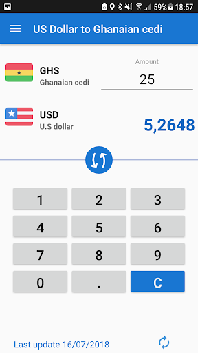 Us Dollar To Ghana Cedi Usd Ghs Converter Screenshot 2