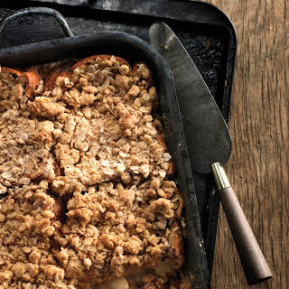Cinnamon Raisin Banana French Toast Casserole with Oat Crumble.
