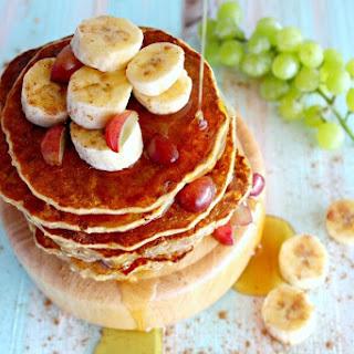 Healthy Oatmeal Bran Banana Pancakes Recipe
