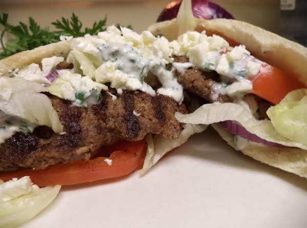 American Gyro Burgers With Tahini Sauce Recipe