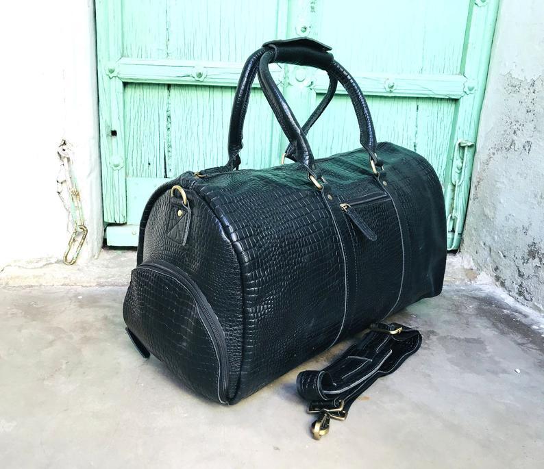Black Duffel Bag | Leather Bags