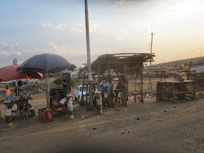 Photo: Nairobi outskirts - food stalls for road travellers