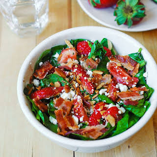 Strawberry Spinach Salad With Bacon.