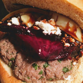 Roasted Beet Burgers with Balsamic Reduction.