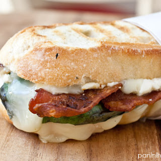 Brie, Basil, Bacon and Blue Cheese Panini.
