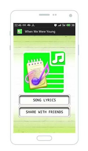 android When We Were Young Lyrics Screenshot 0