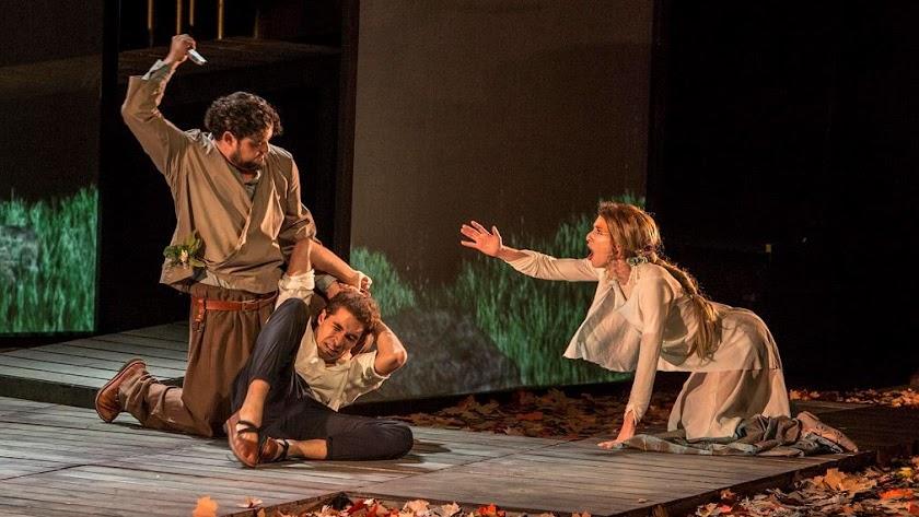 Representación  de 'Eco y Narciso' en Roquetas la pasada edición de las Jornadas.