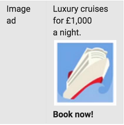 Imagen de un anuncio con imágenes