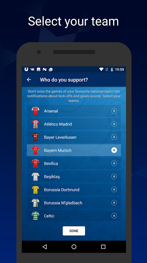 League Live — Champions League- screenshot