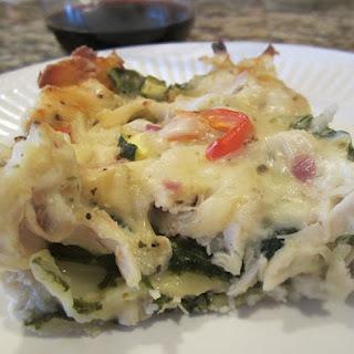 Chicken Lasagna Alfredo.