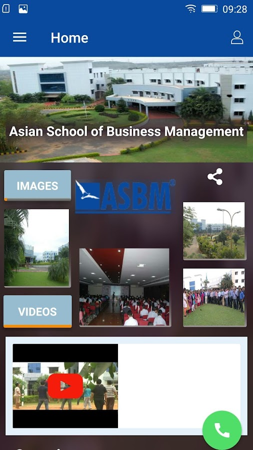 ASBM Admission App- screenshot