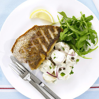 Crispy Red Snapper with Potato Salad.
