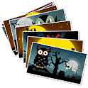 Halloween greetings cards icon