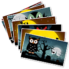 Halloween greetings icon