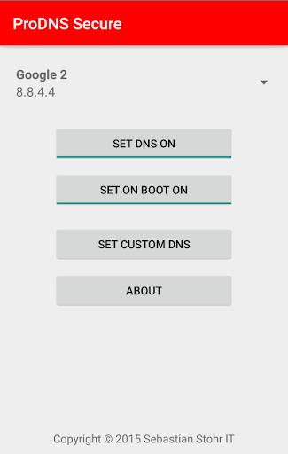 ProDNS Secure set Lollipop DNS
