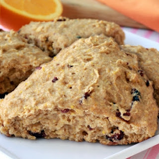 Healthy Cranberry-Orange Scones