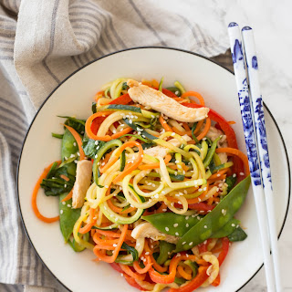 Chicken Lo-Mein with Spiralized Vegetables Recipe