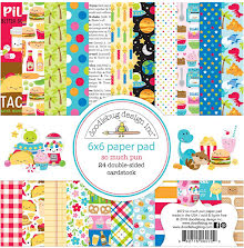 Doodlebug Double-Sided Paper Pad 6X6 24/Pkg - So Much Pun