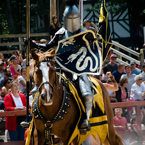 the black knight by Brittany Humphrey - News & Events Entertainment ( renaissance, event, actor, entertainment, knight, joust )