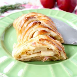 Apple Strudel with Brie.