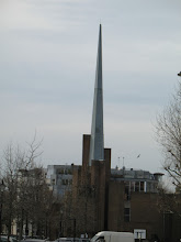 Photo: Pointy St Saviour Church tower at Warwick Avenue