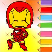 Iron Coloring Man Kids