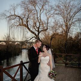 At the River by Ellen Strydom - Wedding Bride & Groom